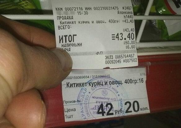 закон потребителя о ценниках